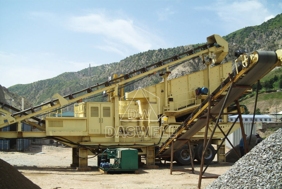 Daswell mobile Crusher Machine in Site