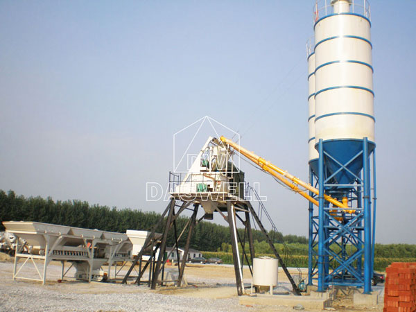 HZS 50 Ready Mix Concrete Plant