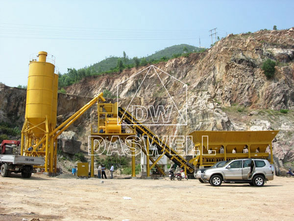 HZS 60 Ready Mix Concrete Batching Plant