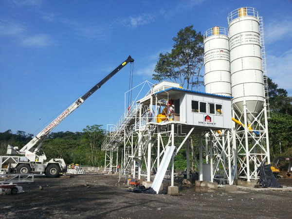 HZS 90 Ready Mix Concrete Batching Plant