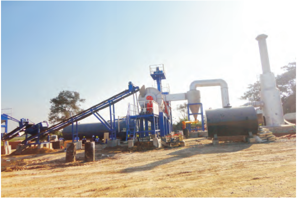 MADP 20 mobile asphalt drum mixing plant