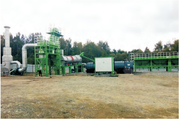 MADP 80 mobile asphalt drum mixing plant