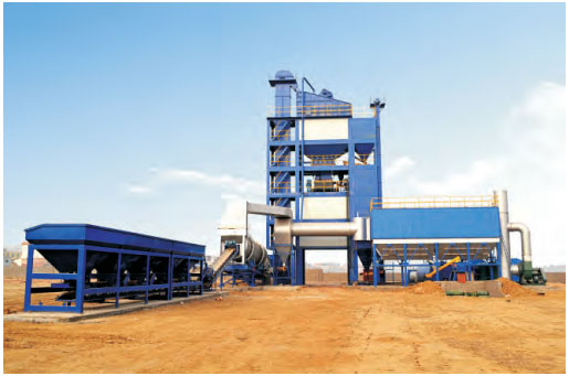 SAP 4000 Hot Mix Asphalt Plant Working Site