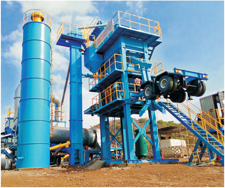 The Forced Mobiae Asphalt Mixing Plant