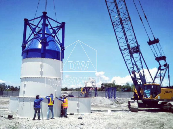 YHZS 25 Batching Plant Installation in Philippines