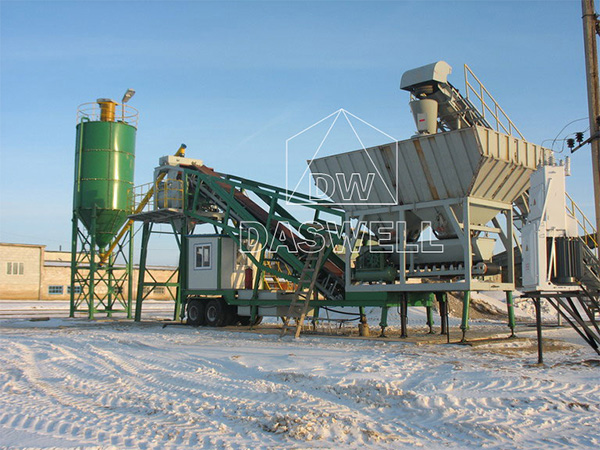 YHZS 35 Batching Plant in Russia