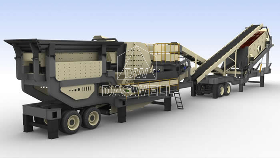 mobile crushing plant compact structure