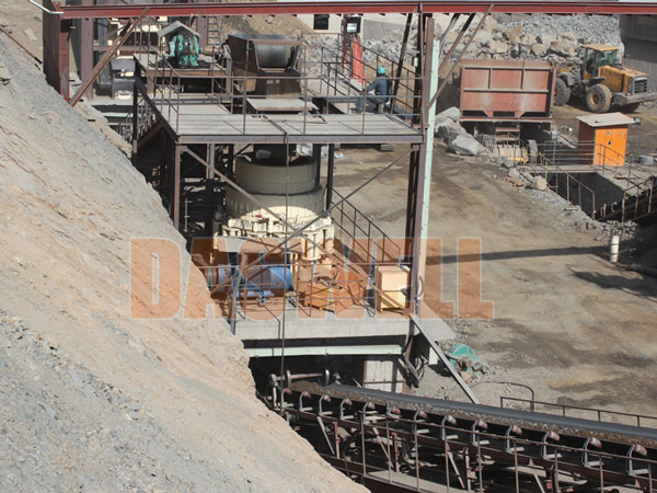 cone cursher use in site