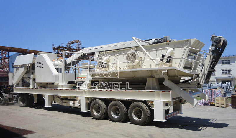 tyred type mobile crusher equipment