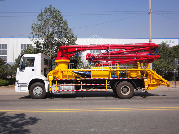 33m concrete boom pump truck for sale