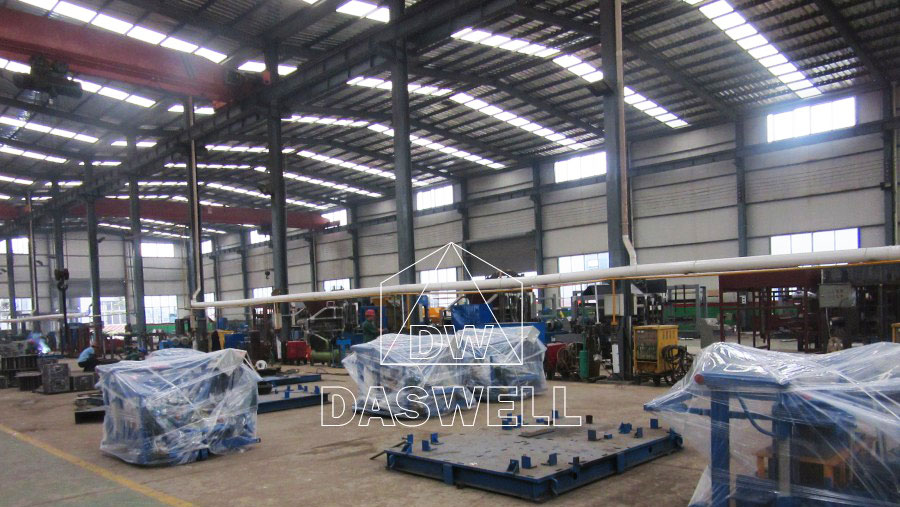 Daswell fly ash brick making machine factory