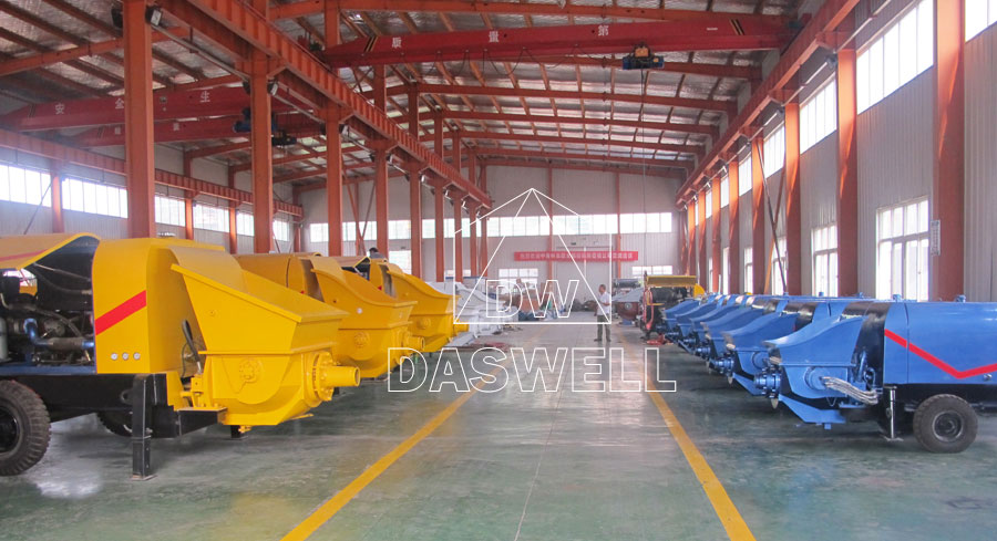 Daswell stationary concrete pump production factory