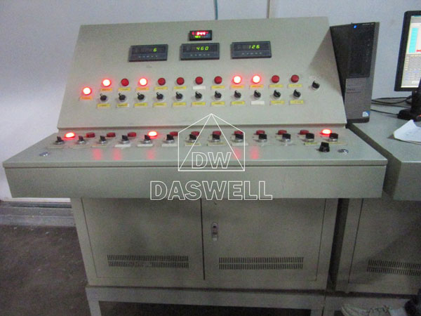 control cpanel of fly ash brick machine
