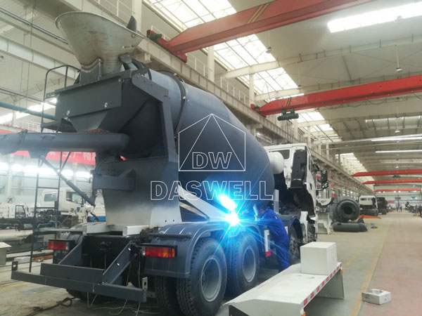 concrete transit mixer production workshop