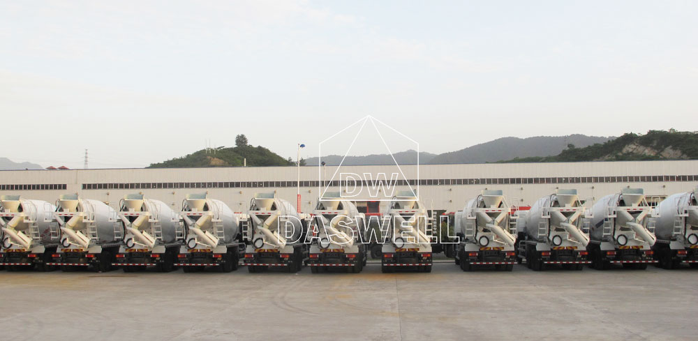 ready mix concrete truck in factory