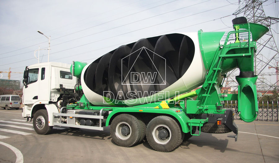 ready mix concrete truck internal structure