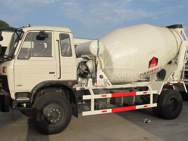 DW 3 small concrete truck mixer for sale