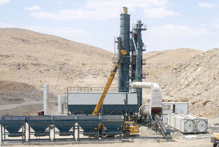 Daswell asphalt mixing plant in Philippines construction site