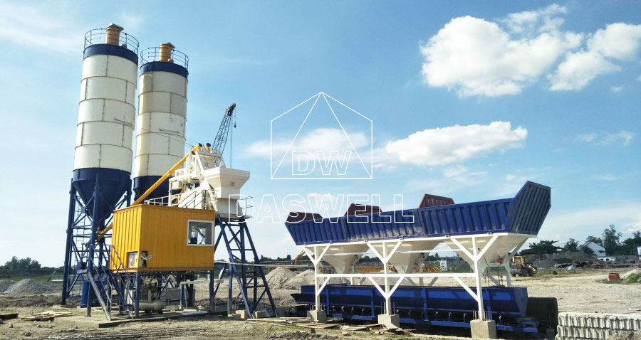 HZS 35 Stationary Concrete Batching Plant for sale