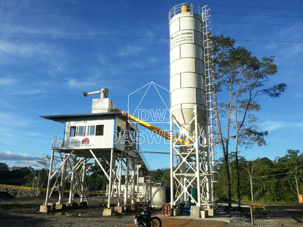 HZS 90 stationary concrete plant in Philippines