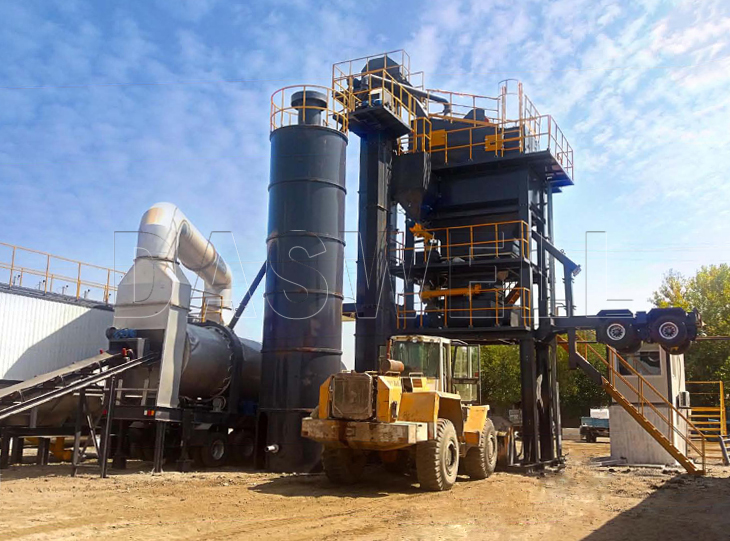 MAPY mobile asphalt forced mixing plant