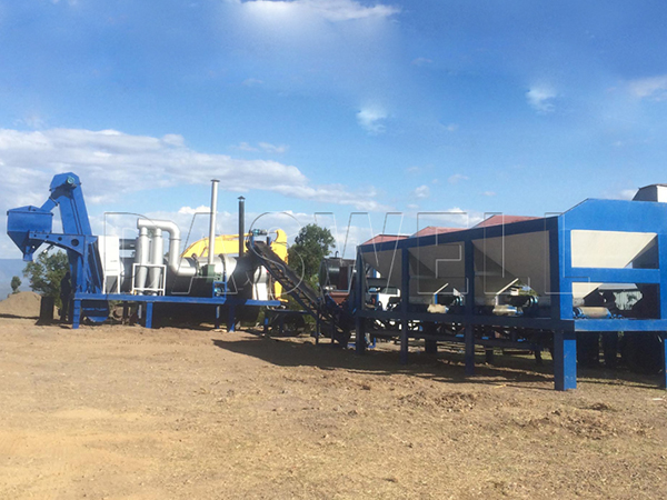 mobile drum mixing plant