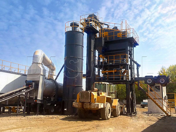 Daswell mobile asphalt forced mixing plant