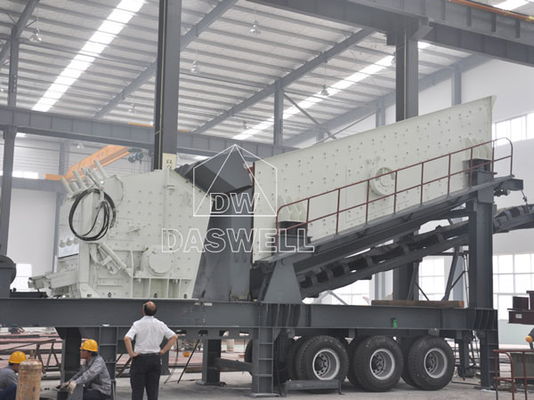 mobile crushing plant in Daswell factory