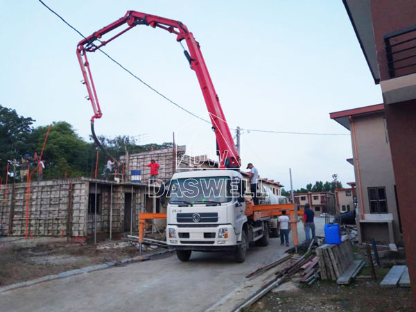 25m truck-mounted concrete pump for sale in Philippines