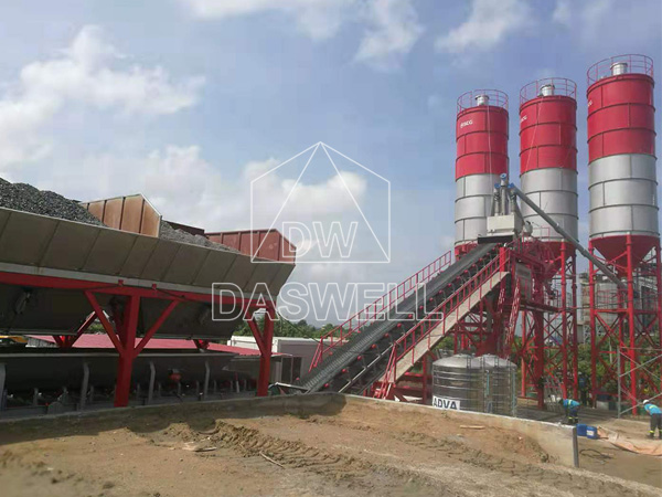 YHZS 100 conrete batch mix plant