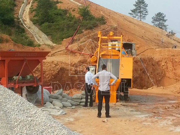 construction of slope