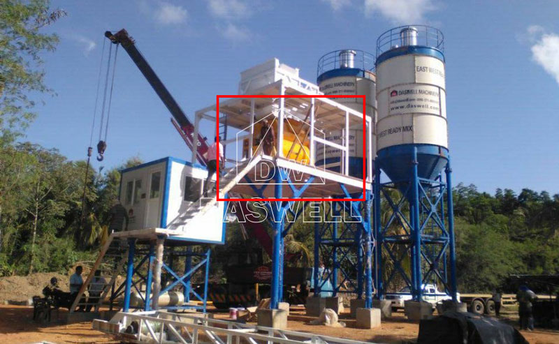 twin shaft concrete mixer used in concrete batching plant