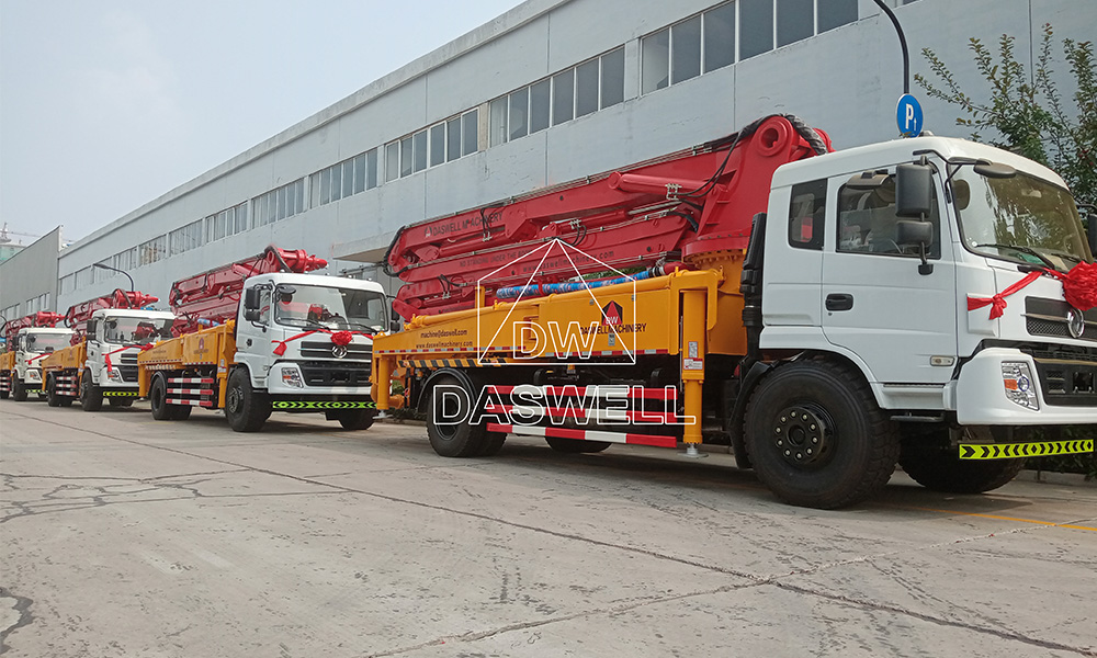 5 sets boom pump truck delivery to Southeast Asia