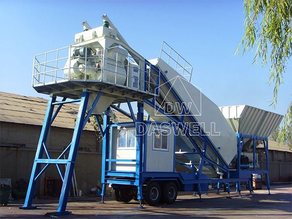 YHZS 120 Mobile Concrete Batching Plant